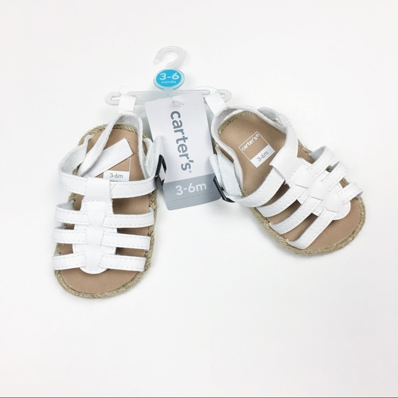 NWT Carter s White Baby Sandals 3-6M